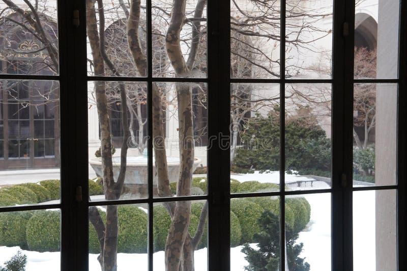 Freiere Galerie der Kunst, Hof im Winter stockbilder