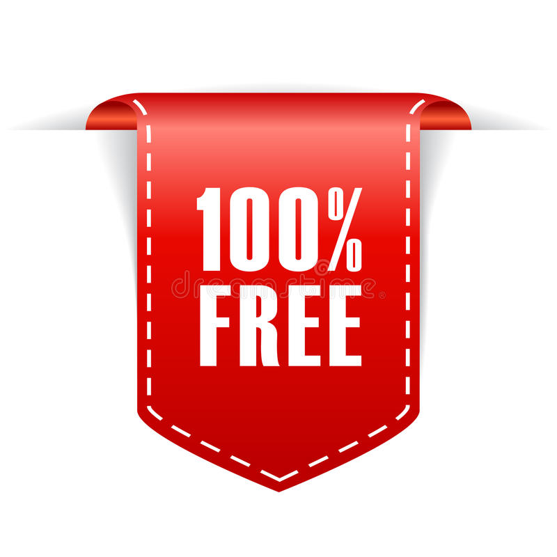 freies Band 100 stock abbildung