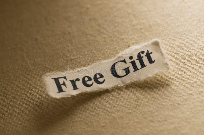 Freies Geschenk lizenzfreies stockbild