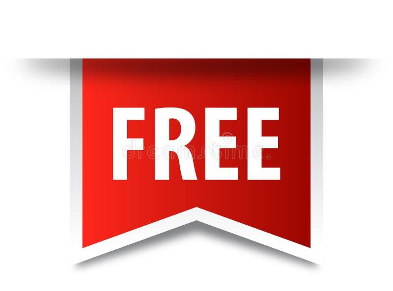 Freies Tagaufkleber-Rotband lizenzfreie abbildung