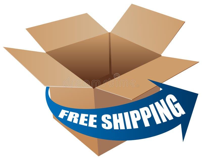 Freies Verschiffen stock abbildung