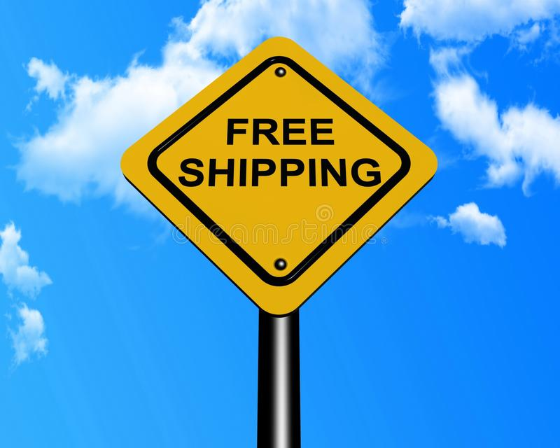 Freies Verschiffenzeichen stockfoto