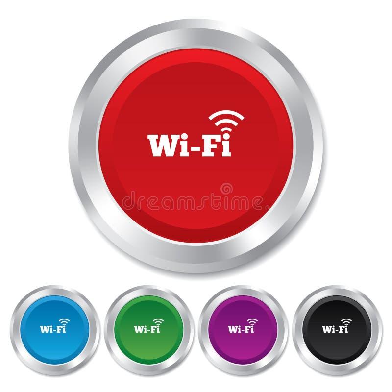 Freies Wifi Zeichen. Wifi-Symbol. Drahtloses Netzwerk. Vektor ...
