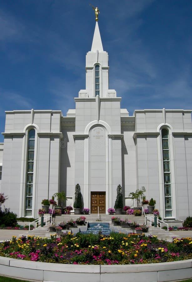 Freigebiger Utah-mormonischer Tempel stockfoto