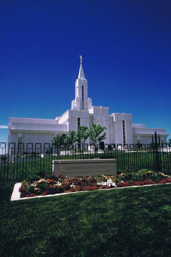 Freigebiger Utah-Tempel stockfoto