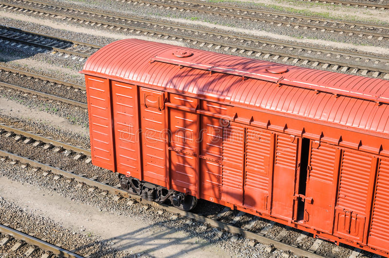 Freight car. In shunting yard royalty free stock images