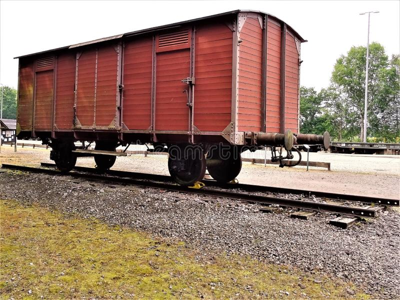 Freight Car, Track, Transport, Rolling Stock stock images