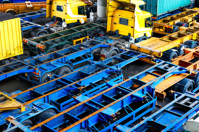 freight compartment of truck royalty free stock photos