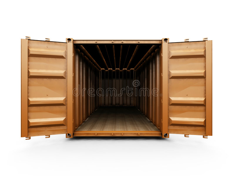 Freight container stock illustration