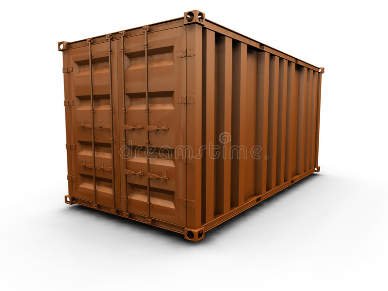 Freight container royalty free illustration