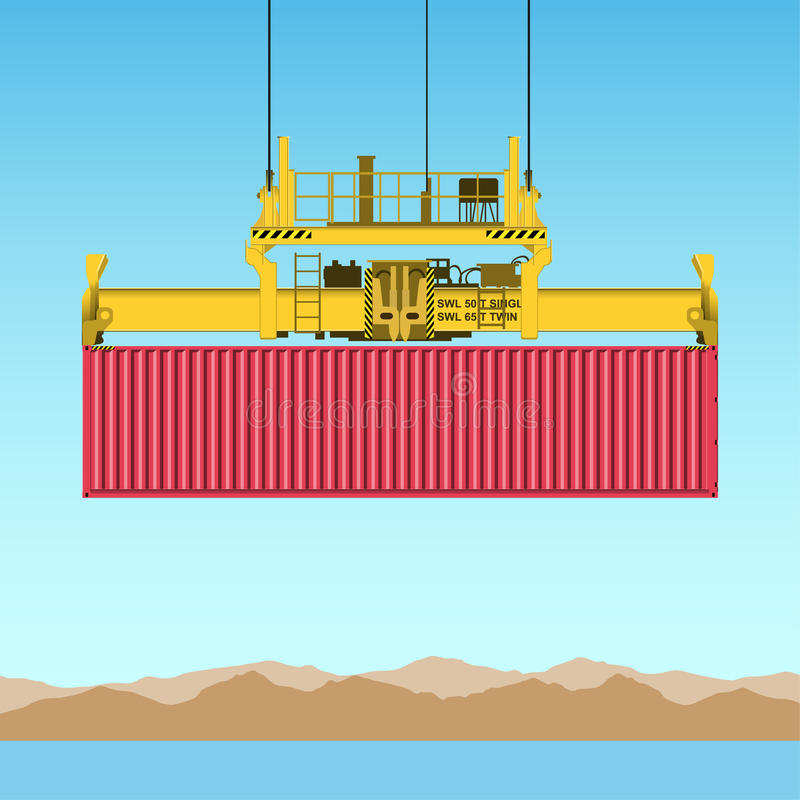 Freight Container vector illustration
