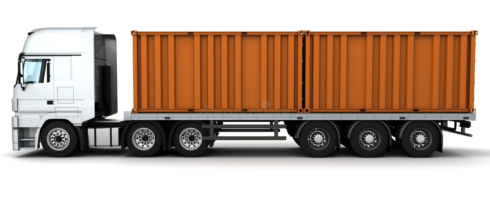 Download Freight Container Delivery Vehicle Stock Illustration - Illustration of freight, travel: 18518290