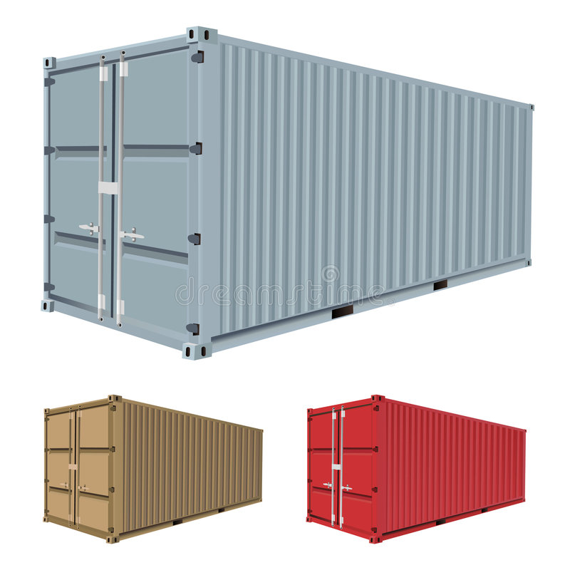 Download Freight container vector stock vector. Image of container - 8617656