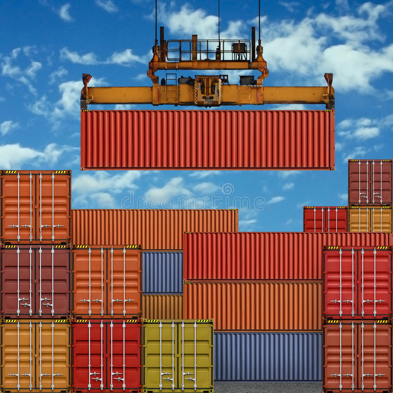 Free Freight Containers Royalty Free Stock Photography - 13698757