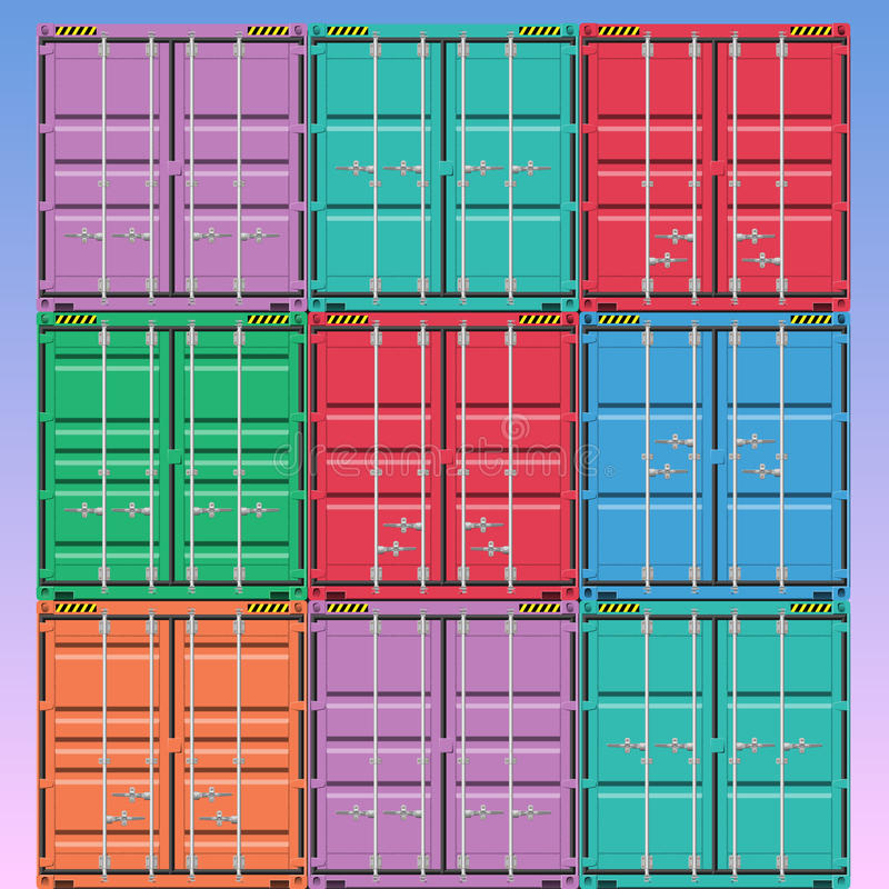 Freight Containers stock illustration