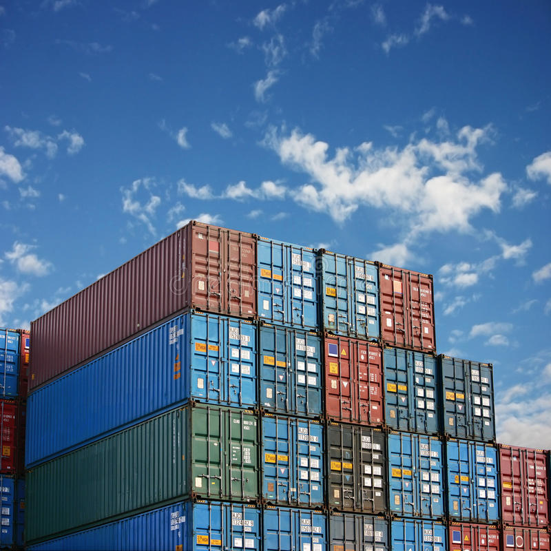 Freight Containers royalty free stock images