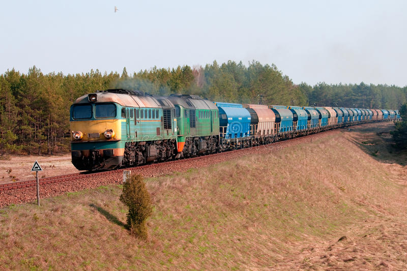 Download Freight diesel train stock photo. Image of outdoors, cargo - 13978310
