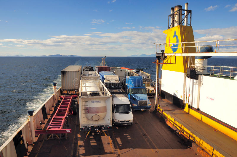 Freight-passenger ferry of Navimag company. royalty free stock image