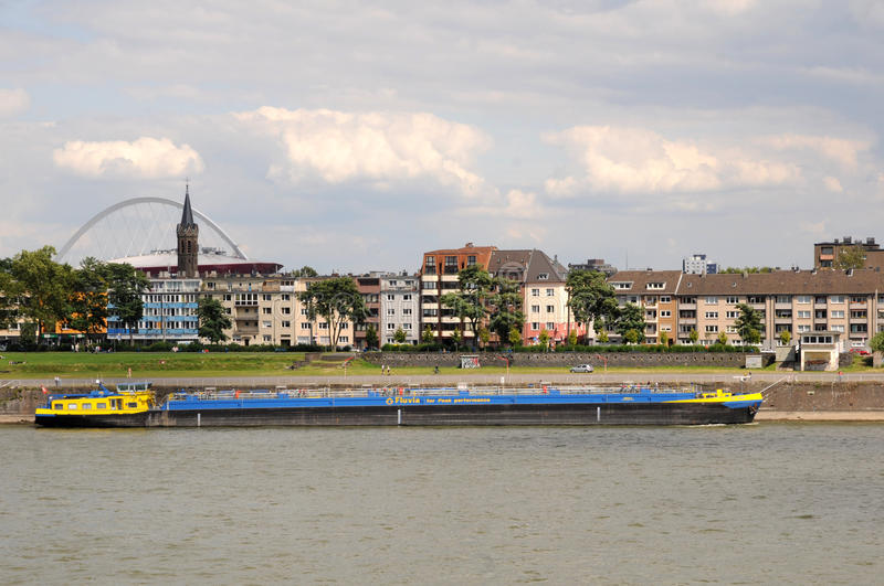 Download Freight Ship On Rhine River,  Cologne Germany Editorial Photo - Image: 27948441