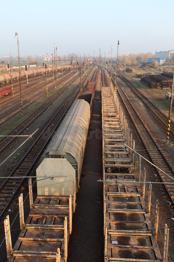 Download Freight Station With Trains Stock Image - Image: 29556405