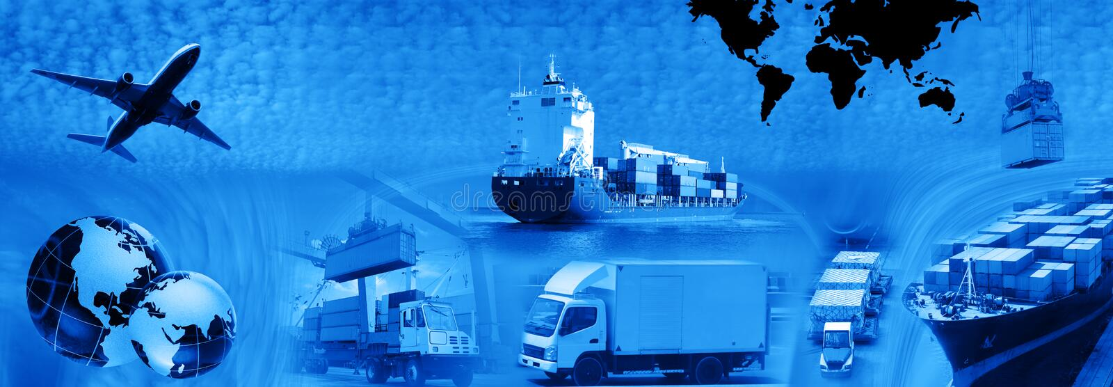 Freight template 2010 royalty free stock photos