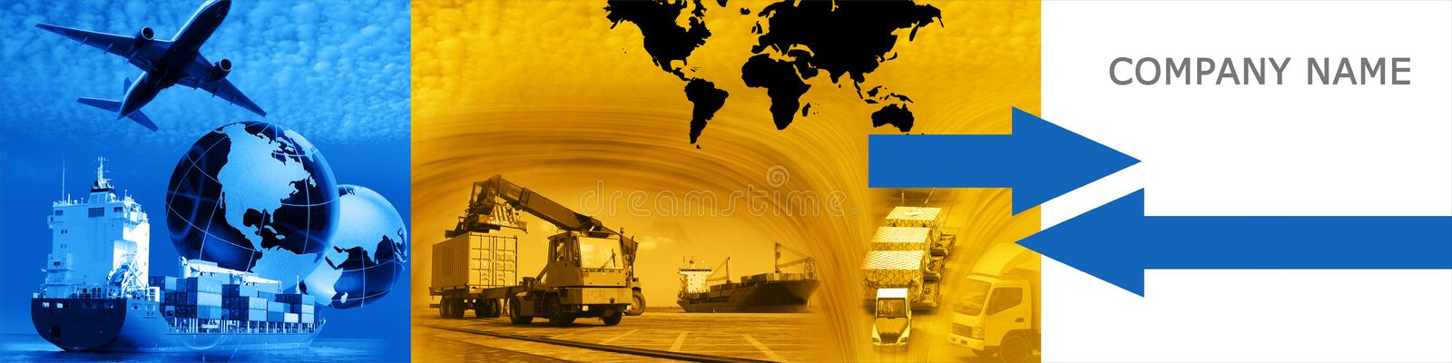 Freight template 2010 version 4 stock illustration
