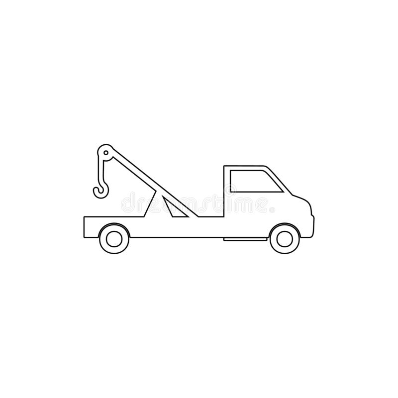 freight tractor outline icon. Element of car type icon. Premium quality graphic design icon. Signs and symbols collection icon for royalty free illustration