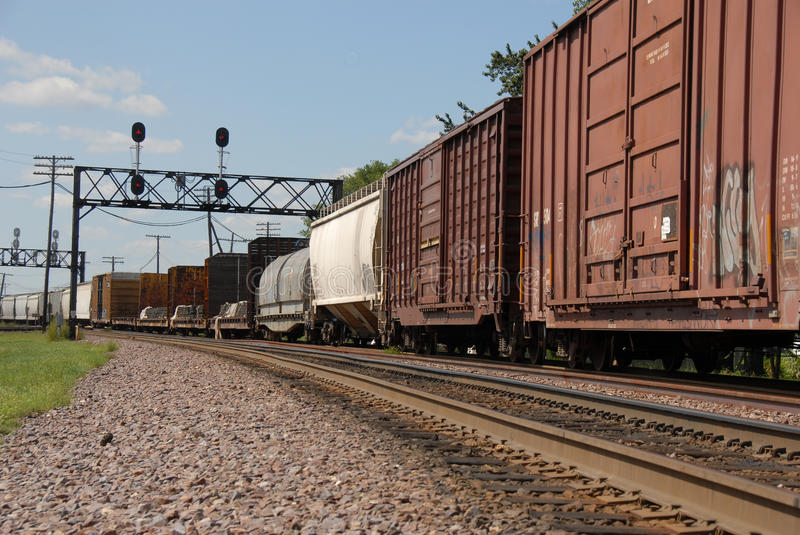Download Freight train stock photo. Image of industrial, rail - 13114094