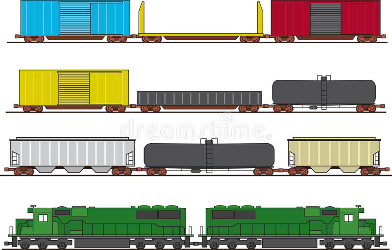Download Freight Train stock vector. Illustration of freight, commodities - 19376652