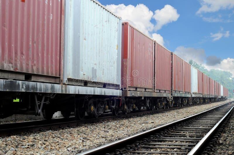 Freight train on beautiful sunny day stock photo