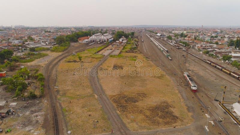 Railway station in Surabaya Indonesia stock photography