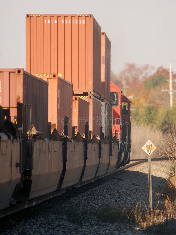 Download Freight Train Heading West stock photo. Image of shipping - 1423028