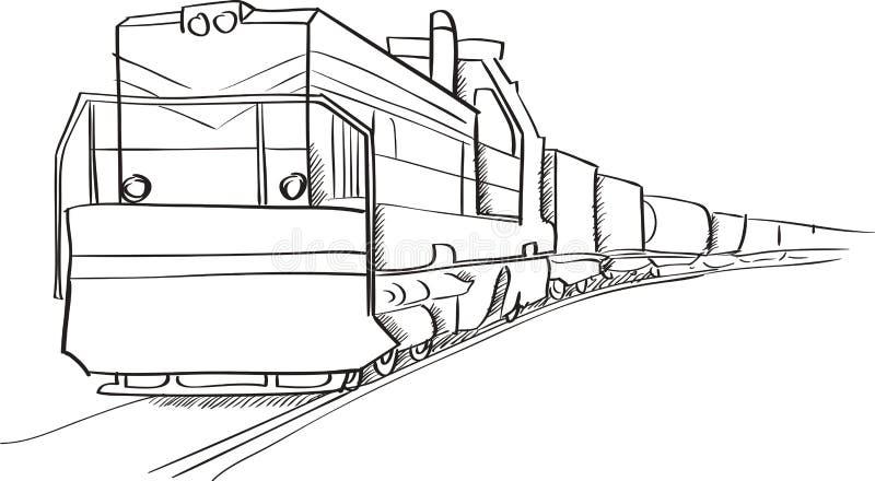 freight locomotive stock illustration illustration