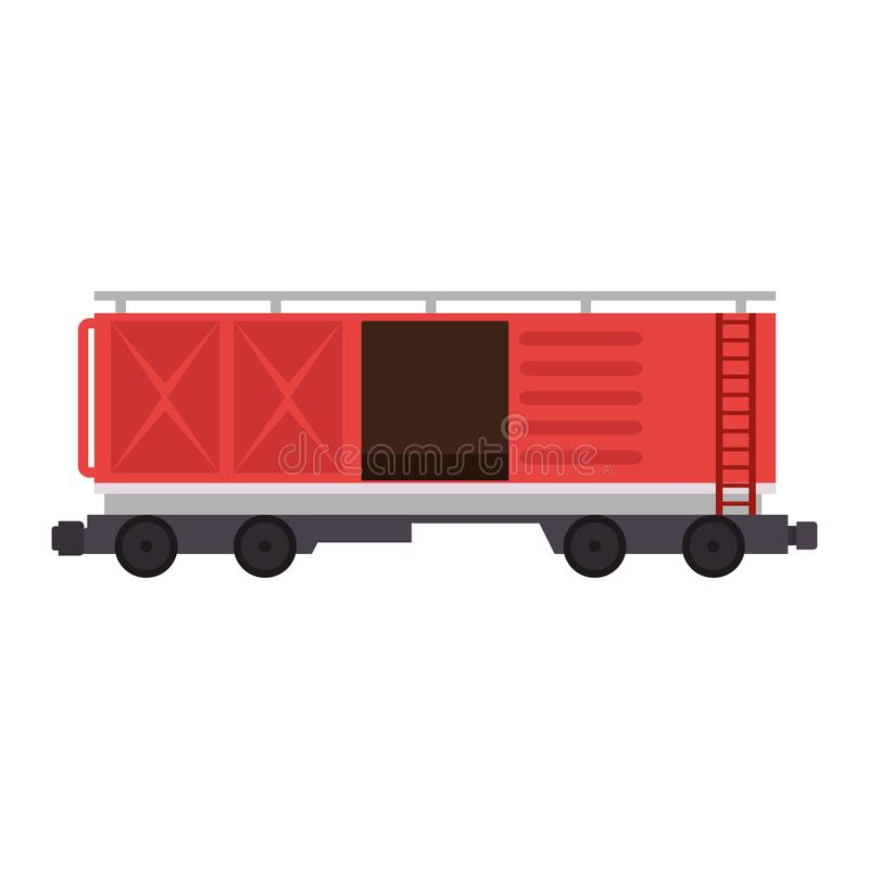 Freight train wagon logistic service vector illustration