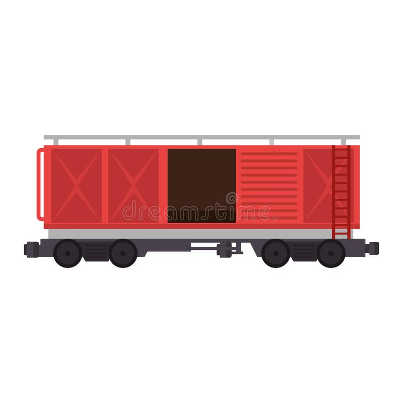 Freight train wagon logistic service royalty free illustration