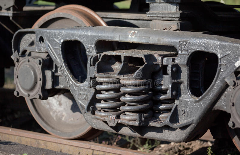 Freight trains running parts royalty free stock image