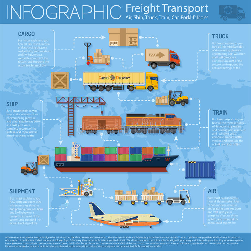 Freight Transport Infographics vector illustration
