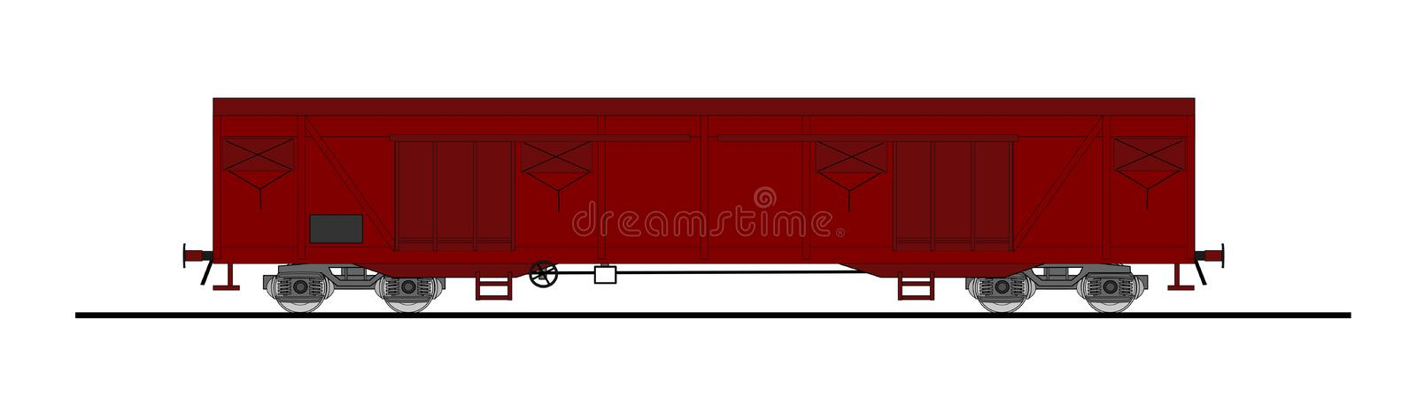 Download Freight wagon stock vector. Illustration of railway, station - 16542117