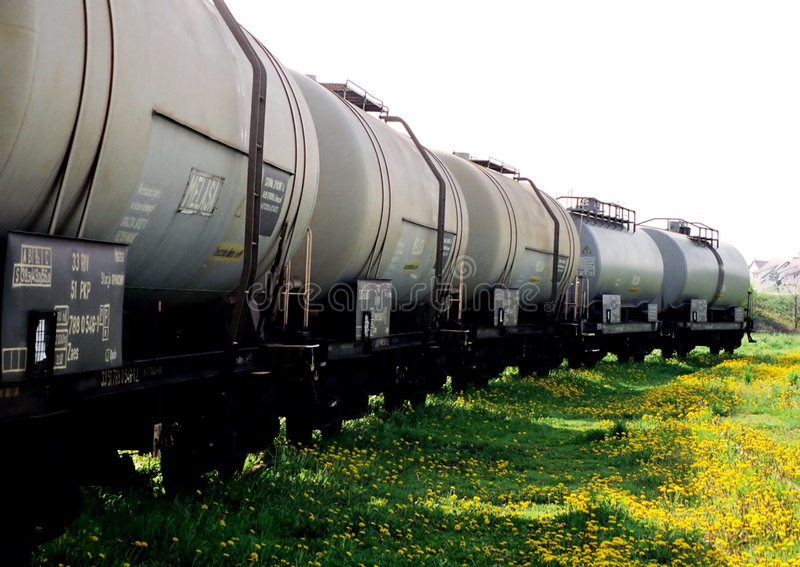 Download Freight wagons on a grass stock photo. Image of yellow, gray - 2718