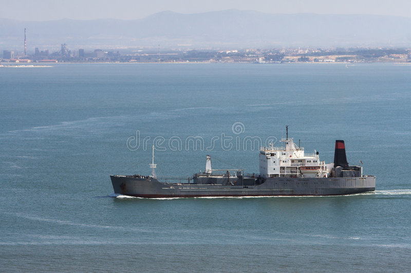 Freighter stock photo