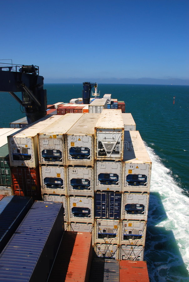 Download Freighter At Sea stock image. Image of export, enormous - 8108209