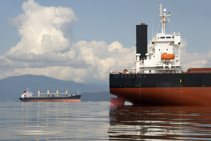 Freighters stock photo