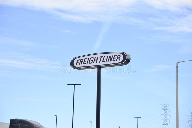 Freightliner Trucking Company royalty free stock image