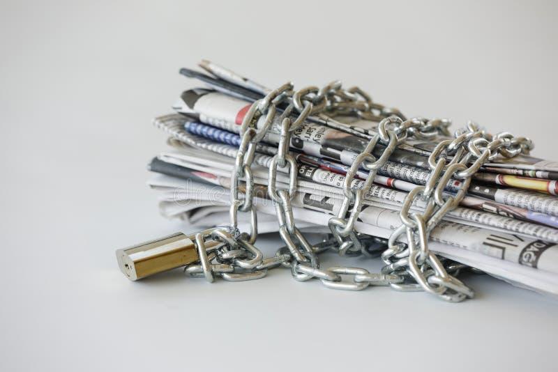 Freiheit der Presse stockbild