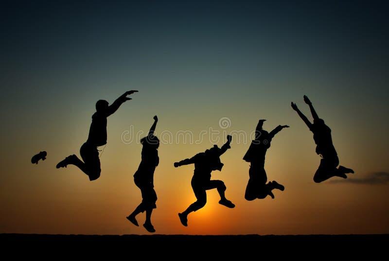 Freiheit des Morgen-Glückes lizenzfreie stockbilder