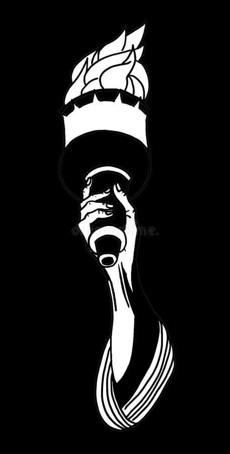 Freiheit gesogen durch das schwarze Loch lizenzfreies stockfoto