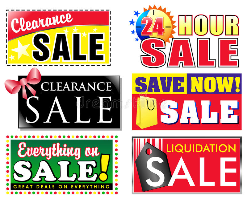 Freiheit-Rabatt-Verkaufs-Ikonen stock abbildung