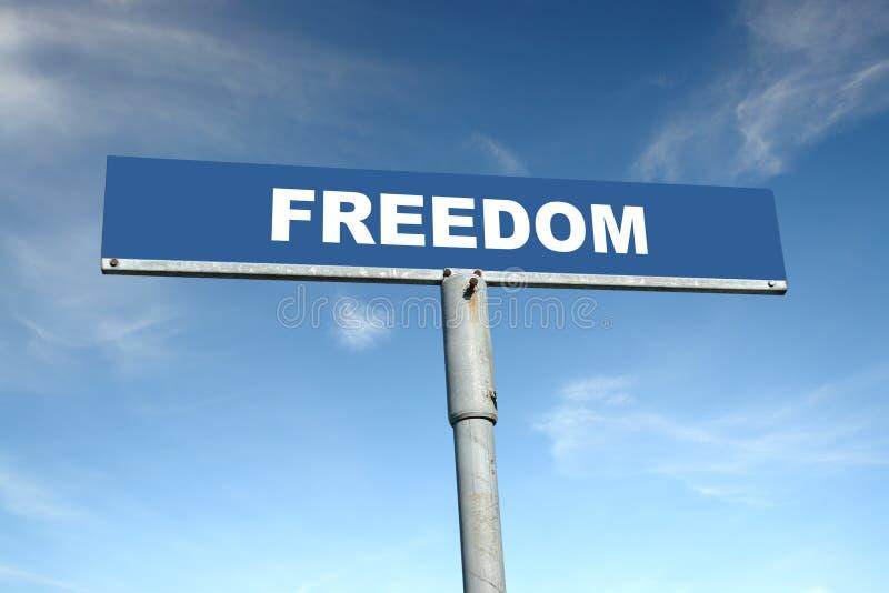 Freiheit Signpost stockbild