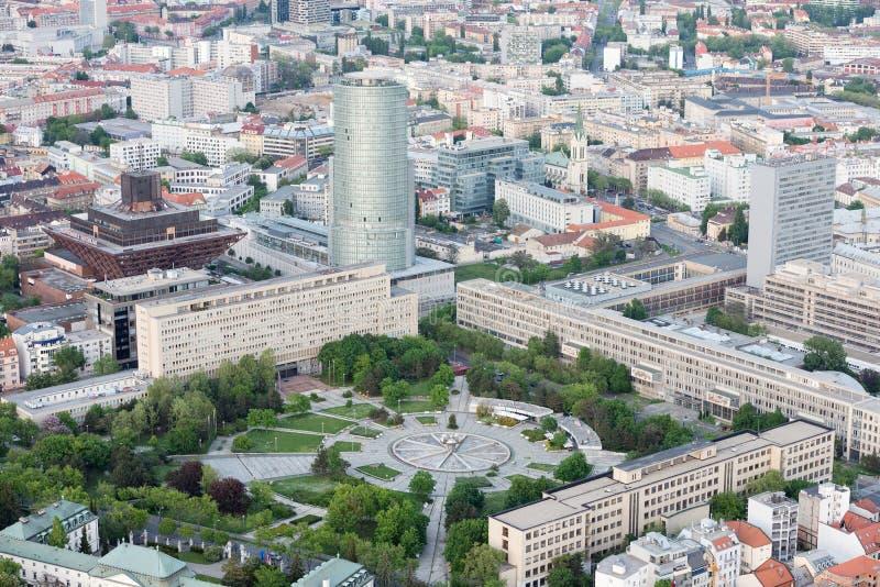 Freiheitsquadrat (Namestie Slobody) in der alten Stadt von Bratislava, Slowakei lizenzfreie stockbilder