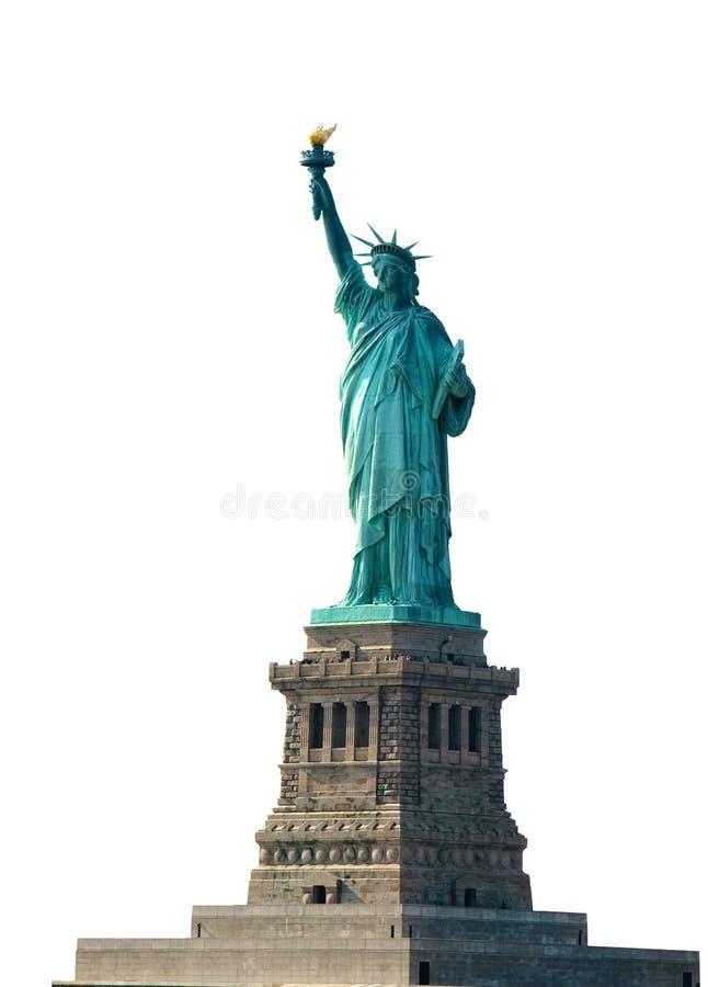 Freiheitsstatue auf Bedienpult, New York stockfotografie